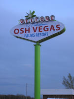Osh Vegas sign